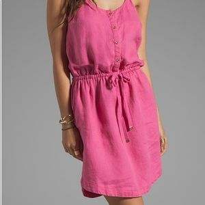 Juicy Couture Linen pocket pink dress